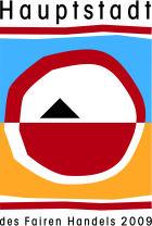 Logo des Ehrentitels: Hauptstadt des Fairen Handels (den Marburg im Jahr 2009 erhalten hatte)©Universitätsstadt Marburg  Fachdienst Umwelt, Fairer Handel, Abfallwirtschaft