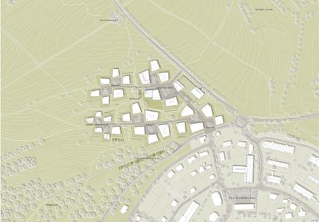 Städtebaulicher Wettbewerb Hasenkopf 1. Preis  Lageplan©Universitätsstadt Marburg
