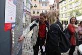 Auf der Karte konnten Passant*innen ihre Vorschläge direkt am betreffenden Ort anbringen.©Thomas Steinforth, Stadt Marburg
