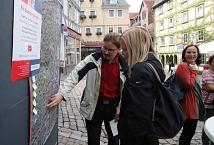 Auf der Karte konnten Passant*innen ihre Vorschläge direkt am betreffenden Ort anbringen.