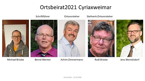 2021 Ortsbeirat Cyriaxweimar©Bernd Weimer