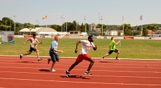 Auf die Plätze, fertig, los: Auch aktuelle Bilder wie hier von den Landesspielen der Special Olympics 2015 auf der Aschebahn im Georg-Gaßmann-Stadion sind gefragt.©Archivfoto: Stadt Marburg