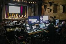 Per Livestream wurde das 2. Marburger Wirtschaftsforum übertragen.©Freya Altmüller, i.A. der Stadt Marburg