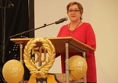 Stadträtin Kirsten Dinnebier betonte die Rolle der Abendschule für mehr Chancengleichheit.©Heiko Krause i.A.d. Stadt Marburg
