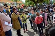Zurück in der eigenen Grundschule: Stadträtin Kirsten Dinnebier hielt eine kurze Ansprache zum Jubiläum und erinnerte sich an ihre eigene Schulzeit in der Astrid-Lindgren-Schule.