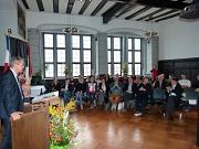 Oberbürgermeister Dr. Thomas Spies hieß die Gäste zum Festakt anlässlich des 55-jährigen Jubiläums der Städtepartnerschaft zwischen Marburg und Poitiers herzlich willkommen.