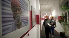 Portrait-Fotografien aus Indien von Jan Bosch gab es im dritten Stockwerk der vhs zu sehen.