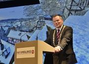 Oberbürgermeister Dr. Thomas Spies begrüßte rund 1000 Marburgerinnen und Marburger zum Neujahrsempfang im Erwin-Piscator-Haus.