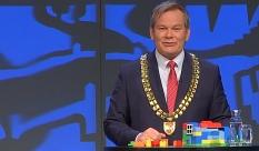 """""""Bauen, bauen, bauen wirkt"""", sagt Oberbürgermeister Dr. Thomas Spies in seiner Neujahrsrede. Der Mietanstieg in Marburg sei gestoppt.©Universitätsstadt Marburg"""
