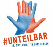 Logo des Aufrufs des Deutschen Frauenrates #unteilbar Solidarität statt Ausgrenzung