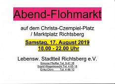 Abendflohmarkt 17.08.2019©Lebenswerter Stadtteil Richtsberg e.V.
