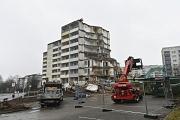 Das bisherige Wohnheim der Altenhilfe St. Jakob am Richtsberg ist bereits entkernt. Seit einigen Tagen läuft der Abriss des siebenstöckigen Gebäudes.