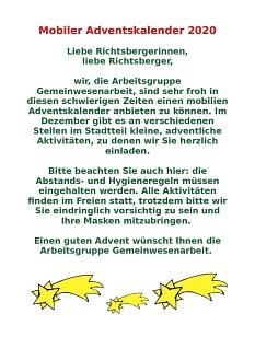 Adventskalender 1©Lebenswerter Stadtteil Richtsberg e.V.