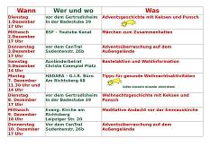Adventskalender 2©Lebenswerter Stadtteil richtsberg e.V.