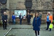 AED Säule vor der Lutherkirche
