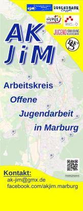 Das RollUp des AK-JiM mit einer Karte aller Standorte.©Universitätsstadt Marburg