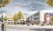Als zentrales Element zur Neugestaltung der Altenhilfe in der Sudetenstraße wird ein für den ganzen Stadtteil und Gäste offenes Beratungs- und Begegnungszentrum entstehen, das schon von der Straße aus mit einer Außenterrasse einladend ist und zum Treffpun