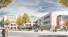 Der vorgesehene Ergänzungsneubau in der Sudetenstraße 24 soll ein modernes, zeitgemäßes Seniorenzentrum ermöglichen. Das Konzept setzt durchgängig auf Wohngruppen und zugleich auf Offenheit zum Quartier – dafür steht auch ein Begegnungscafé für alle im Ei