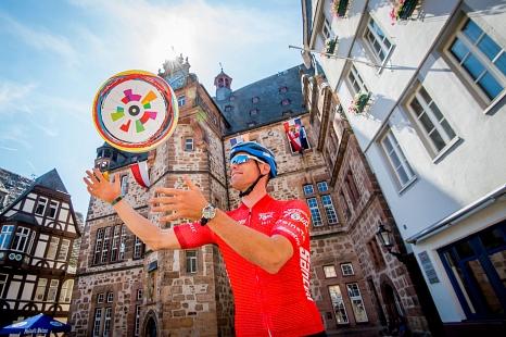 """Am 30. August ist die Universitätsstadt Marburg Etappenort der Deutschland Tour. Die Stadt richtet aus diesem Anlass ein """"Fest des Radfahrens"""" aus.©Gesellschaft zur Förderung des Radsports"""