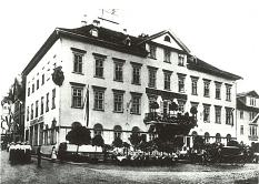 """Historisches Foto des Hotels """"Alter Ritter"""" aus der Zeit nach 1894."""
