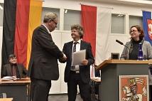 Bürgermeister Dr. Franz Kahle und Stadträtin Dr. Kerstin Weinbach dankten Oberbürgermeister Egon Vaupel für die gute gemeinsame Zusammenarbeit.