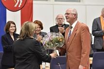 Norbert Wagner von der Stabsstelle zur Unterstützung und Beratung kommunaler Gremien wurde zu seiner letzten Stadtverordnetensitzung vom Parlament verabschiedet.