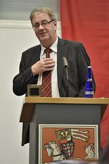 Oberbürgermeister Egon Vaupel hielt bei seiner Verabschiedung ein leidenschaftliches Plädoyer für eine solidarische und gerechte Welt.