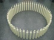 Ansicht Objekt aus Kerzen im Kreis stehend Kurs Art un Rat