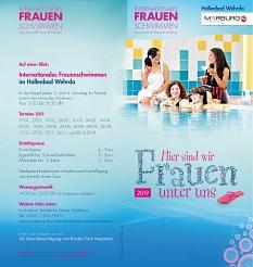 AquaMar - Flyer Frauenschwimmen 2019 - Seite 1 als Bild©Universitätsstadt Marburg