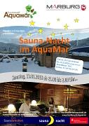 Plakat zur Saunanacht  im AquaMar am Samstag, den 13.01.2018