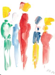 Eine Aquarell-Malerei von Elfi Danielzik©Aquarell Elfi Danielzik