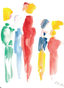 Eine Aquarell-Malerei von Elfi Danielzik