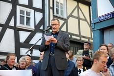 Auch Dr. Hamdi Elfarra gehörte zu den Redner*innen.©Simone Schwalm, Stadt Marburg