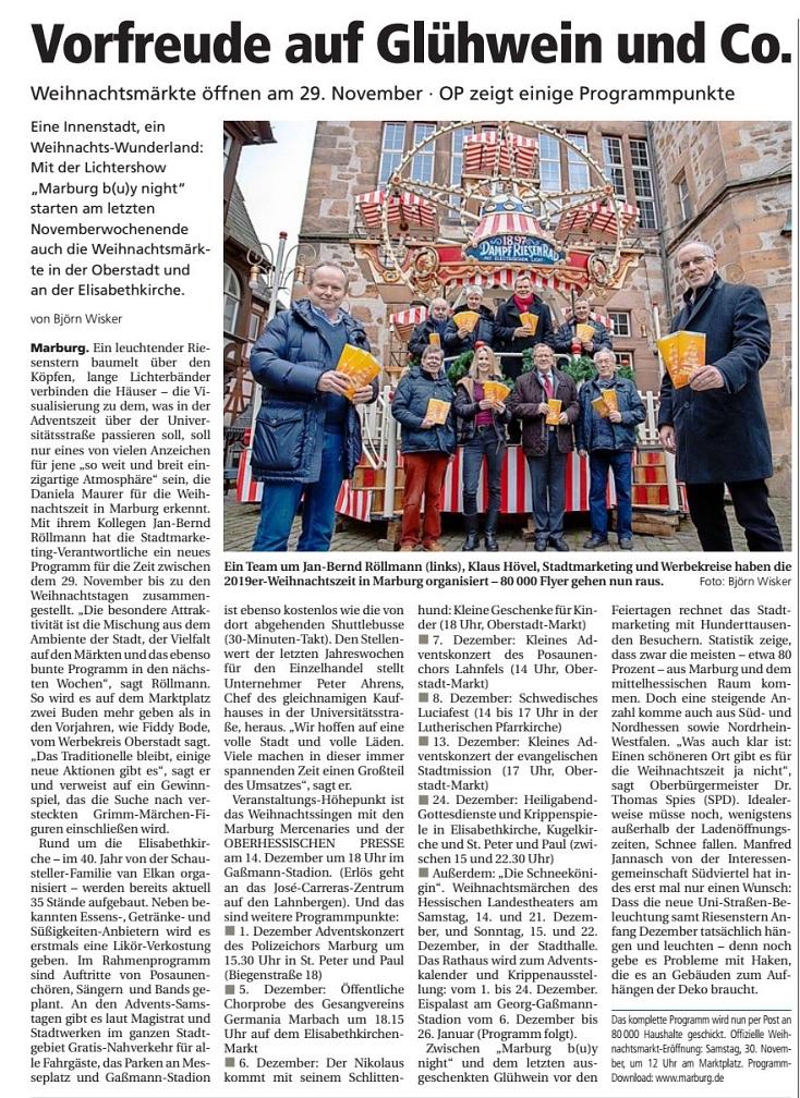 .©Oberhessische Presse, Ausgabe vom 21.11.2019