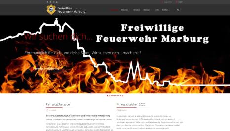 Benutzerfreundlicher und moderner: So sieht die Homepage der Feuerwehr Marburg nun aus.©Screenshot