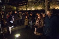 Rund 100 Marburgerinnen und Marburger gedachten bei einer Besinnungsstunde der Opfer des Nationalsozialismus.©Stadt Marburg, Patricia Grähling