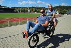 Spaß und Freude bereitete vielen auch das Ausprobieren verschiedener Fahrradtypen beim Bewegungs- und Gesundheitstag.©Thomas Steinforth, Stadt Marburg