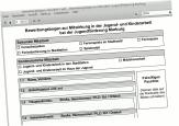 Ein Screenshot des Bewerbungsformulars.©Universitätsstadt Marburg