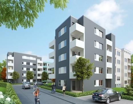 Neue Wohnungen sind unter anderem am Damaschkeweg am Unteren Richtsberg entstanden.©GWH