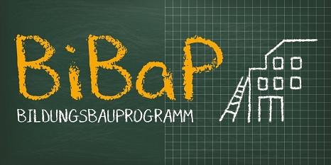 Das Logo des Bildungsbauprogramms (BiBaP).©Stadt Marburg