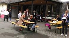 Auf dem Schulhof der Sophie-von-Brabant-Schule©Universitätsstadt Marburg