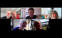 Bildschirmfoto Zoom-Clowning bei Selina Senti (Mittwoch)