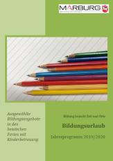 Bildungsurlaubsbroschüre 2019/2020©Universitätsstadt Marburg