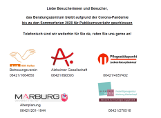 BiP geschlossen bis zu den Sommerferien©Universitätsstadt Marburg