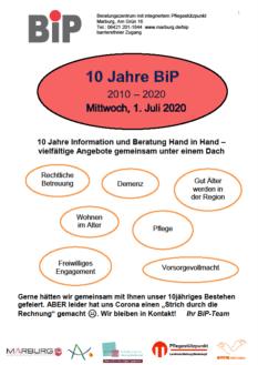 BiP Jubiläum, Plakat©Universitätsstadt Marburg