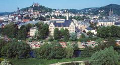 Blick auf Marburg mit Sicht auf das Schloss und die Elisabethkirche