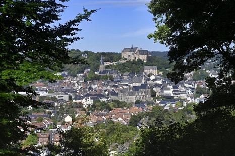 Blick auf Marburger Schloss von der Richtstaette aus©Universitätsstadt Marburg