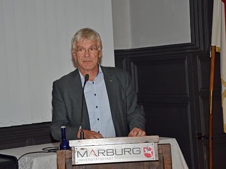 """Blista-Direktor Claus Duncker erklärte die Motivation der Blindenstudienanstalt für die Erforschung der eigenen Geschichte: """"Die Vergangenheit ändert sich nicht, wenn wir sie ignorieren.""""©Stadt Marburg, Philipp Höhn"""