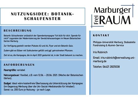 Botanik-Schaufenster Philipps-Universität Marburg©Stadtmarketing Marburg e. V.