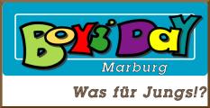 Das Logo des Marburger Boys' Days mit dem Schriftzug Was für Jungs©Universitätsstadt Marburg - Jugendförderung